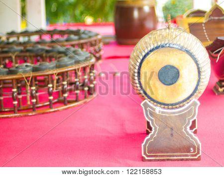 Thai music instrument. Thai Tapon percussion drum.