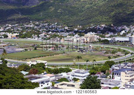 Observation deck in the Fort Adelaide on the Port-Louis- capital of Mauritius