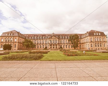 Neues Schloss (new Castle) Stuttgart Vintage