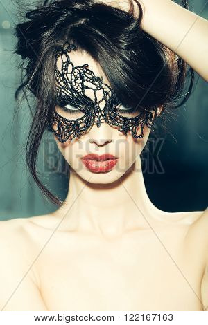 Sensual Woman In Mask