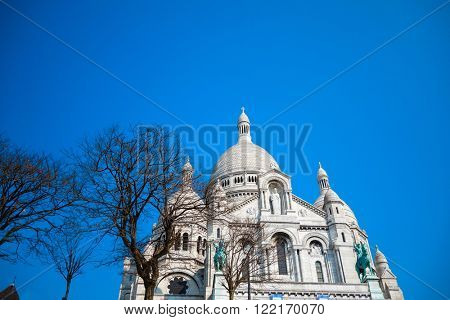 The Sacre-Coeur church in Montmartre,paris.