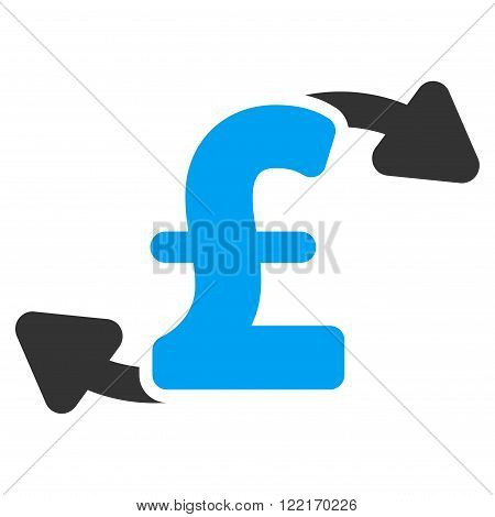 Pound Cash Outs vector icon.  Flat pound cash outs icon.