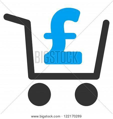 Pound Checkout vector icon. Flat pound checkout icon.