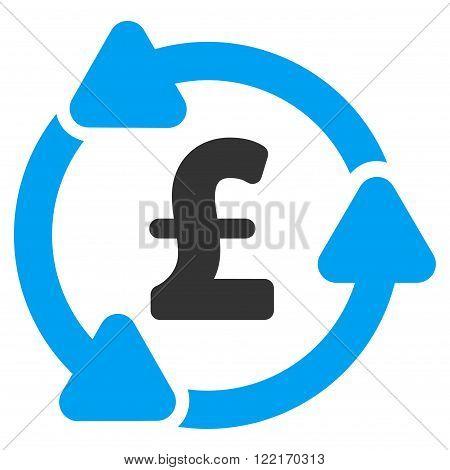 Pound Circulation vector icon.  Flat pound circulation icon.