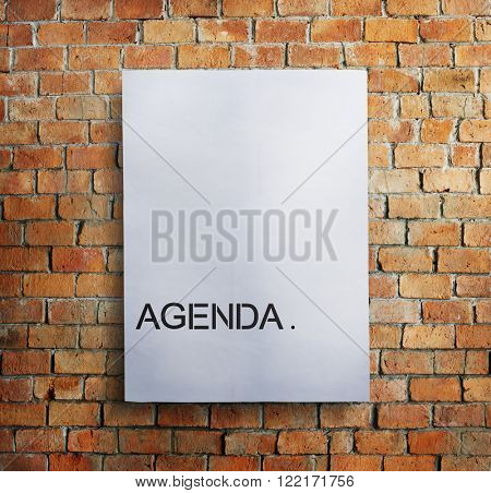 Agenda Meeting Appointment Activity Information Concept