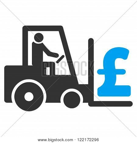 Pound Money Warehouse vector icon. Pound Money Warehouse icon symbol. Pound Money Warehouse icon image. Pound Money Warehouse icon picture. Pound Money Warehouse pictogram.