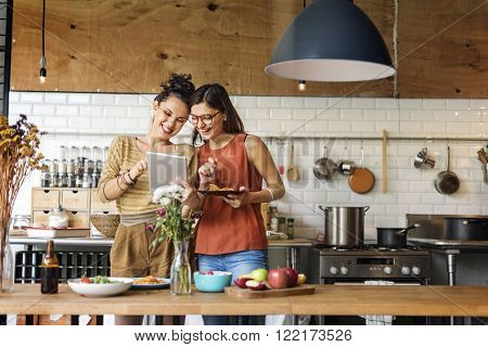 Friends Chef Cook Cooking Concept