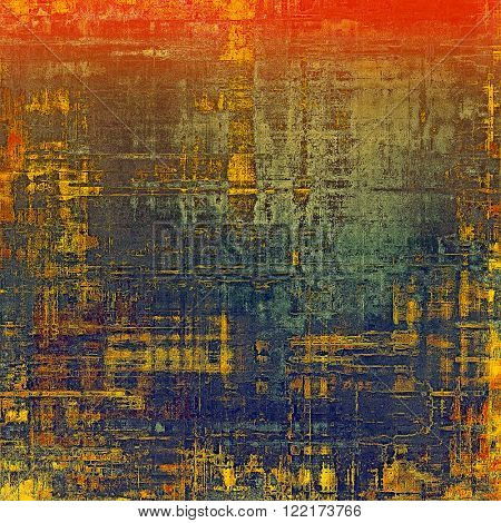 Grunge background for a creative vintage style poster. With different color patterns: yellow (beige); brown; blue; red (orange); gray