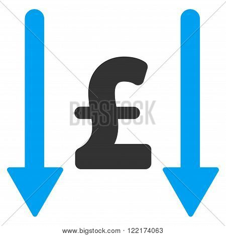 Receive Pound vector icon. Flat receive pound icon. Isolated receive pound icon graphic.