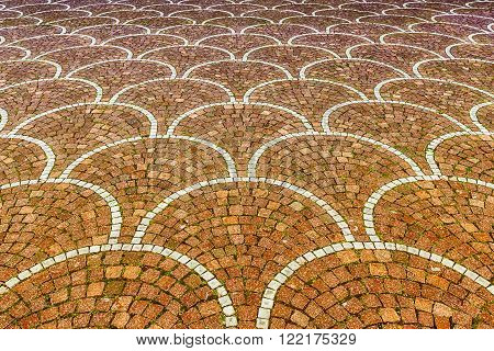Sampietrini pavement in Rome Italy. May be used as background