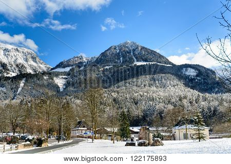 KONIGSEE GERMANY - OCTOBER 11 2016: Mount Jenner from Konigsee