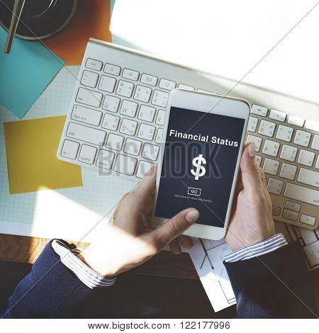Financial Status Money Cash Growth Analysis Concept