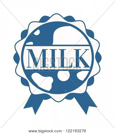 Milk splash logo dairy design and milk splash white product logo. Illustration of milk splash with text vector.