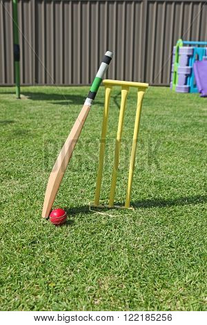 Backyard cricket equipment - An Australian pastime