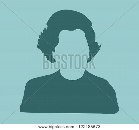 Margaret Thatcher Stylized Simple Flat Style Portrait.