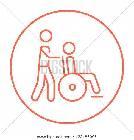 Nursing care line icon.