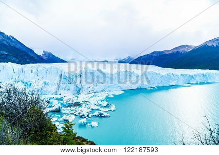 View of Perito Moreno Glacier in the Argentinian Patagonia, Argentina
