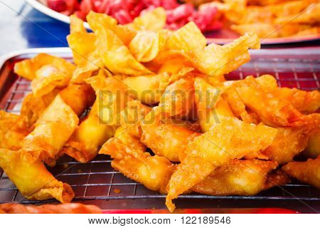 Deep Fried Wonton Asian Style food appetizer.