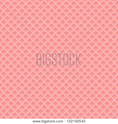 Seamless strawberry wafer background. Wafer vector illustrator.