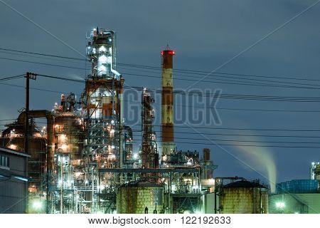 Industry building in kawasaki at night