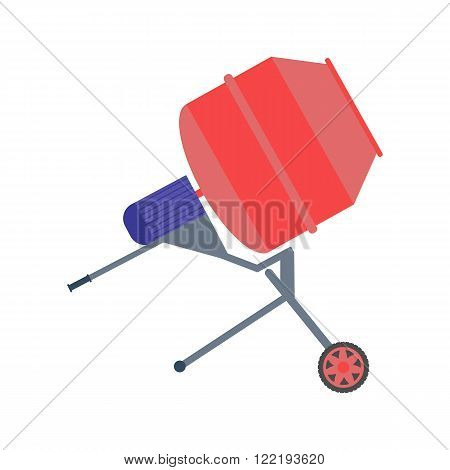 Concrete mixer vector illustration. Concrete mixer isolated on white background.Concrete mixer isolated vector. Concrete mixer isolated vector