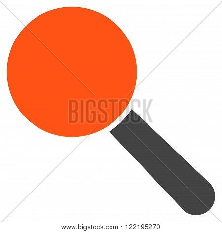 Explore Tool vector icon. Picture style is bicolor flat search tool icon drawn with orange and gray colors on a white background.