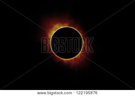 solar sun eclipse, Full eclipse beautiful nature