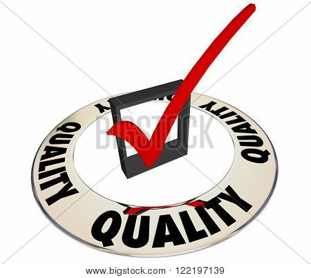 Quality Check Mark Box Ring Great Excellent Job Work Product