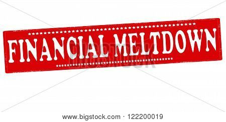 Rubber stamp with text financial meltdown inside vector illustration
