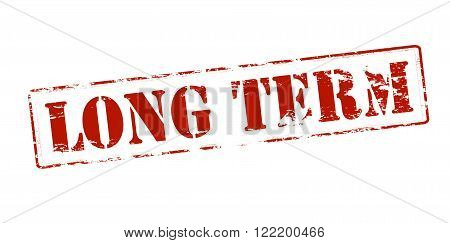 Rubber stamp with text long term inside vector illustration