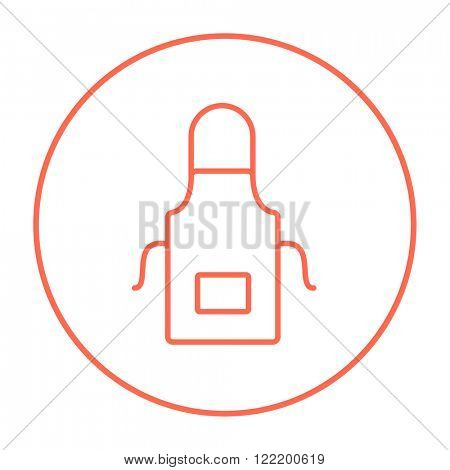 Kitchen apron line icon.