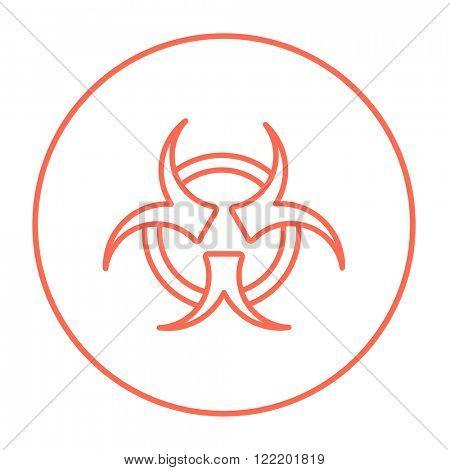 Bio hazard sign line icon.