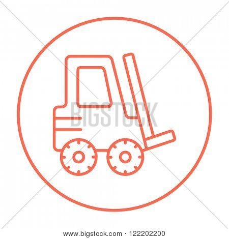 Forklift line icon.