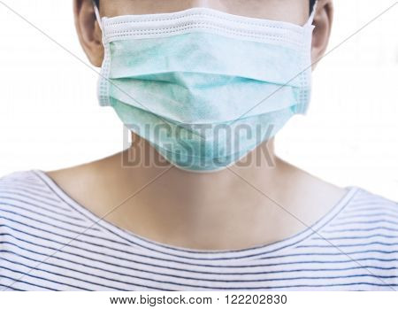 Patient with Medical Mask Dust allergy protection Health care