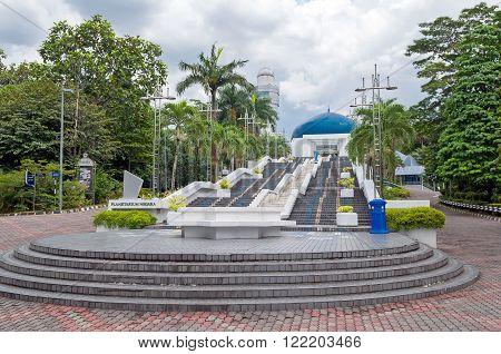 stairs to the planetarium in Kuala Lumpur Malaysia