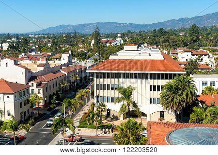 urban landscape of the city of Santa Barbara California