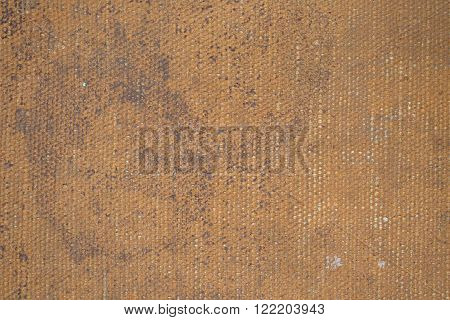 Close-up Of An Old Canvas Suitcase