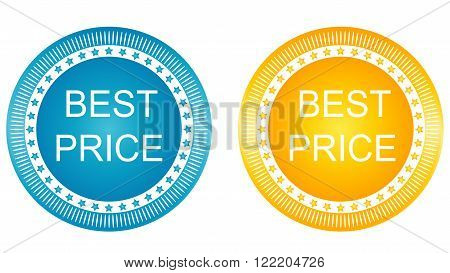 Best price banners set yellow and blue