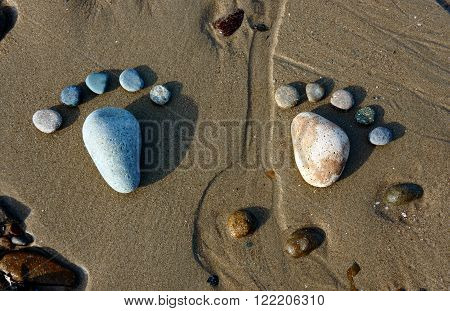 Foot, Pebble, Sand, Art, Beach