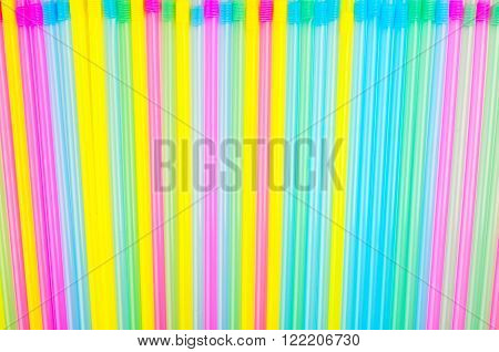 Abstract Background Of Plastic Cocktail Tubules.