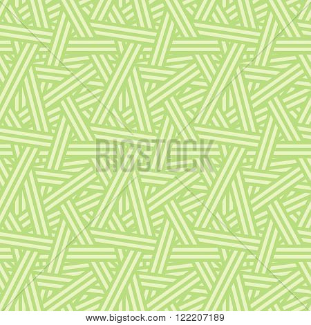 Seamless Vector Interweaving Lines Nature Pattern Background