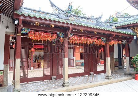 A Buddhistic temple in chinatown, Singapore, Asia