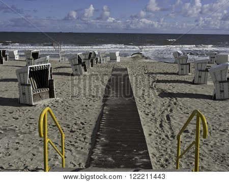 the beach of the german Island wangerooge