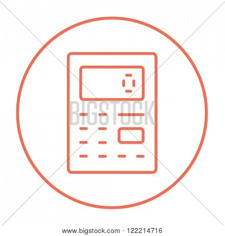 Calculator line icon.
