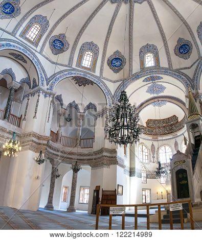 Interior of Little Hagia Sofia mosque in Istanbul, Turkey