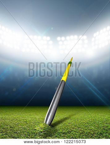 Javelin In Generic Floodlit Stadium