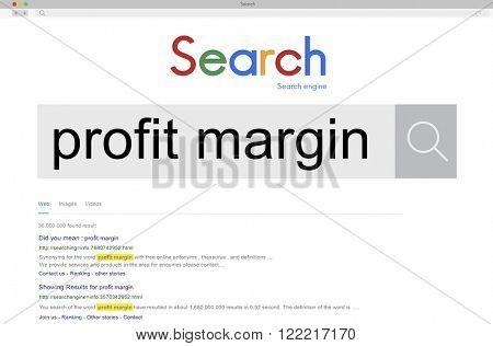 Profit Margin Costs Finance Income Payments Gross Concept