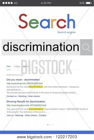 Discrimination Distinction Unfair Unjust Bias Racial Concept