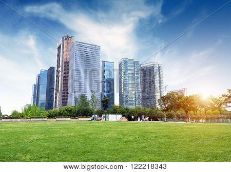 Hangzhou Zhejiang China leisure and high-rise buildings of the public.
