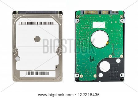 computer hard drive isolated on a white background.